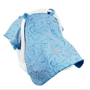 Carseat Canopy Noa Blue & White Unisex Cover